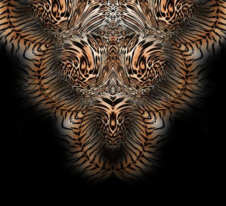 Mélange de fleurs léopard de fond Banque d'images - 94670001