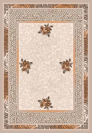 floral  ethnic rug carpet