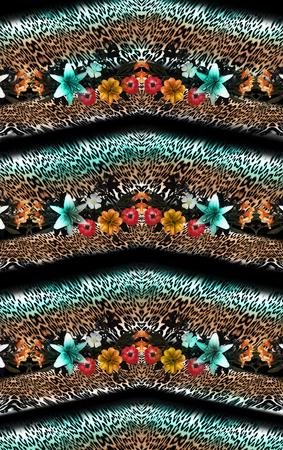 Mélange de fleurs léopard de fond Banque d'images - 94830960
