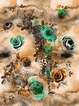 Illustration de la couleur des fleurs dans des aquarelles Banque d'images - 94830987