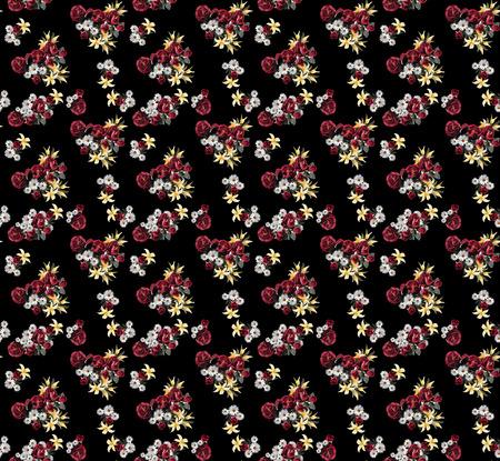 seamles flowers in paintings