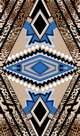 leopard geometric Imagens