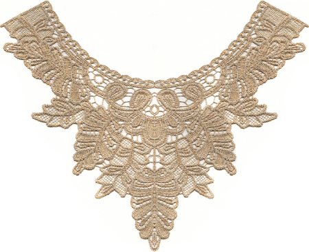 lace with pattern on white background