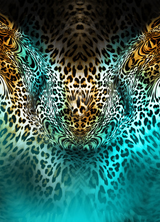 leopard skin  background Stock Photo