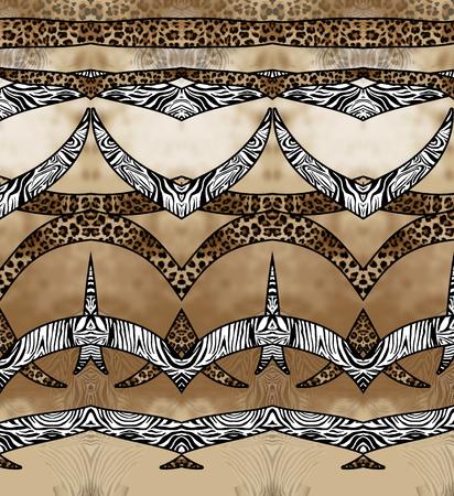 zebra leopard skin seamless background Banque d'images