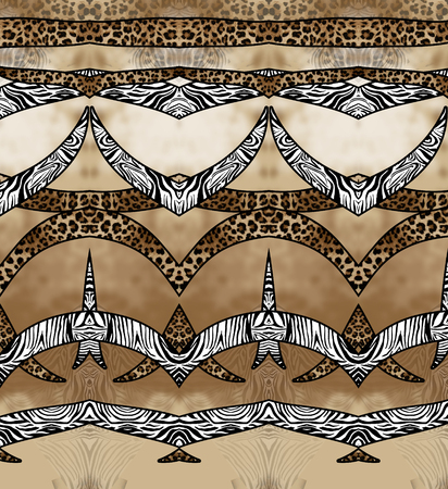 zebra leopard skin seamless background Imagens