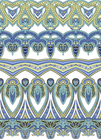 colourful paisley pattern