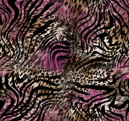 표범 얼룩말 피부 배경