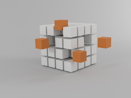 beginning cubes orange and blue
