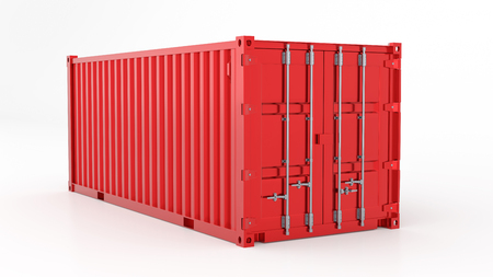 Red 3d Container