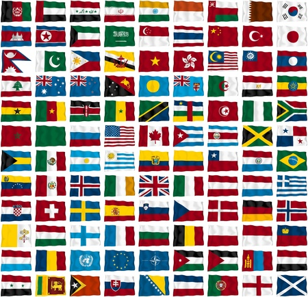 Flags of the world s countries Stock Photo - 13368399