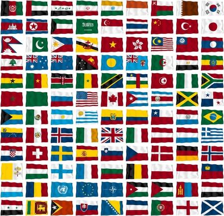 allen: Vlaggen van landen in de wereld s Stockfoto