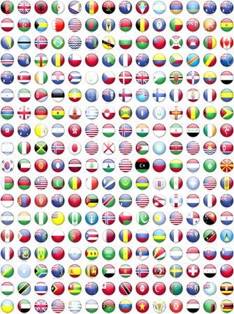 banderas del mundo: Banderas de los países del mundo s Foto de archivo