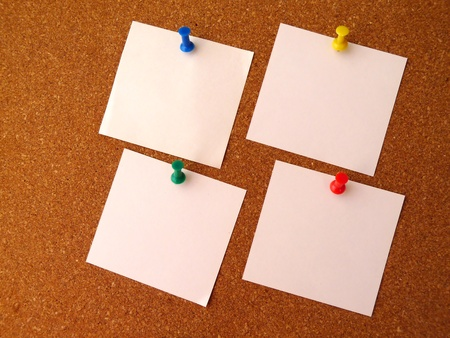 four-note paper Stock Photo