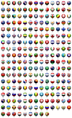 world flag: Round the flags