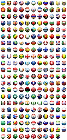 south east asia: flags Stock Photo