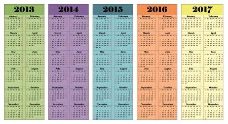 2013년에서 2017년까지