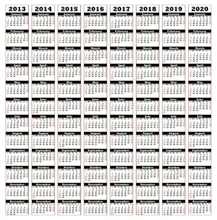 2013-2020 Stock Photo