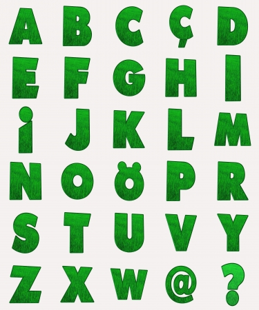 the green alphabet photo