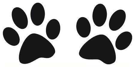 patas de perros: Vector - pata de impresi�n Negro Vectores