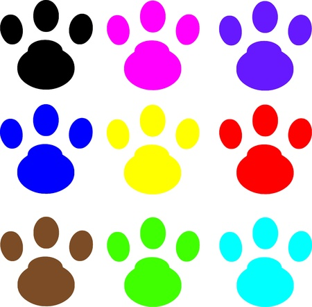 AI: cat footprint Illustration