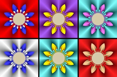 phon: Six of flowers  Stock Photo