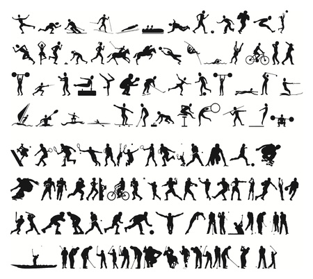 cricket: sports silhouettes