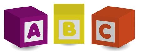 ABC  イラスト・ベクター素材