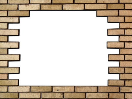 Brick wall in the frame photo