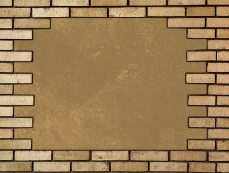 Brick wall in the frame Stock Photo - 21675480