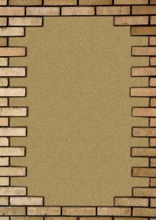 Çerçevesinde tuğla duvar