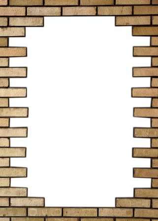 Brick wall in the frame Stock Photo - 21675484