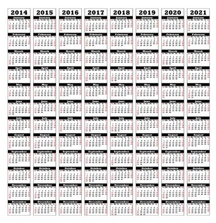 2014년에서 2021년까지 일러스트