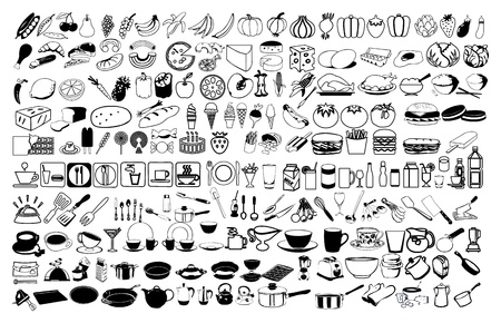 vector icons of food Illustration