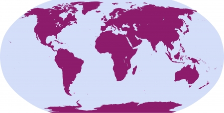 ellipses: world map