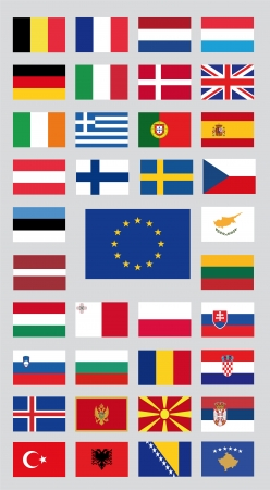 european countries: european union countries and candidate countries