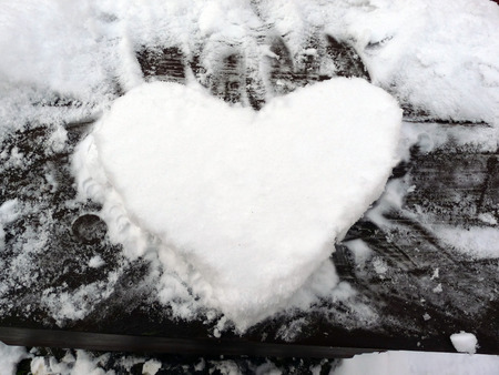 snow heart photo