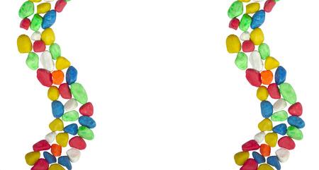 Einbuchtung: Design mit farbigen Steinen Lizenzfreie Bilder