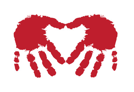 two heart-shaped hand sign
