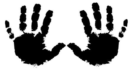 two hands Иллюстрация