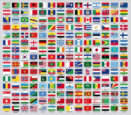 Oficiální vlajky země