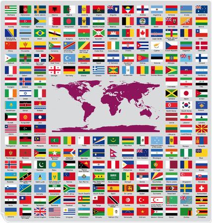 Banderas oficiales de los países Vectores