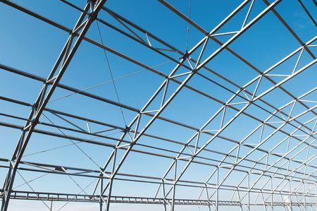 spar: building construction of metal steel framework outdoors