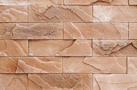 Brown brick stone exterior and interior decoration building material for wall finishing Stock Photo - 6504370