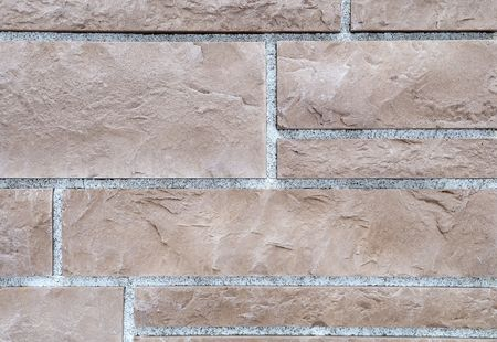 building material: brick stone exterior and interior decoration building material for wall finishing Stock Photo