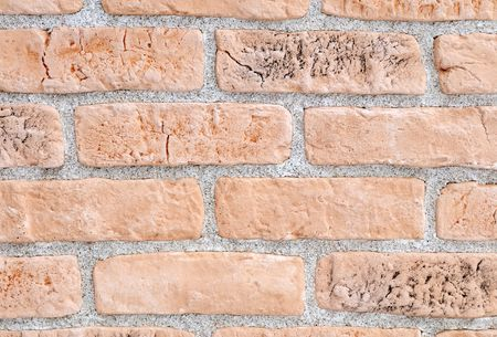 Light yellow brick stone exterior and interior decoration building material for wall finishing Stock Photo - 6504338