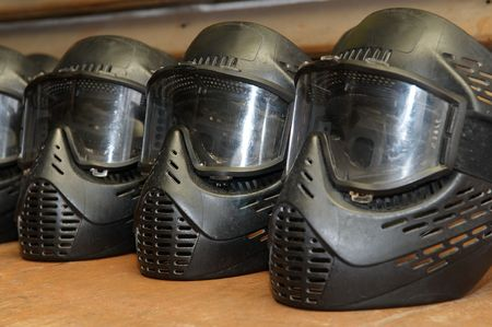 paintball extreme sport protective equipment masks photo