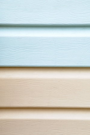 rigidity: Pattern of light blue and brown vinyl siding furniture for exterior wall cladding