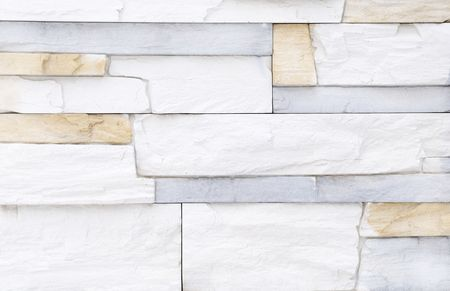rigidity: Light white blue brick stone exterior and interior decoration building material for wall finishing Stock Photo