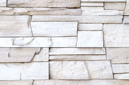 rigidity: white brick stone exterior and interior decoration building material for wall finishing Stock Photo